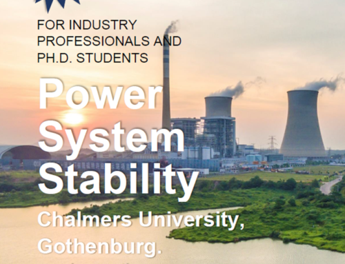 "New course: ""Power System Stability"""
